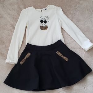 Janie and Jack long sleeve shirt & matching skirt